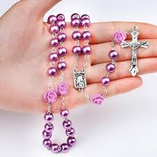 purple rosary lent purple rosary 50 catholic e store