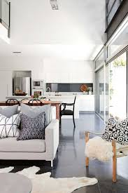 living room open plan kitchen dining living room modern