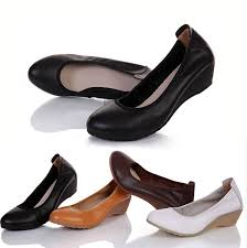 Comfortable Work Shoes Womens Buy New Arrival Fashion Wedges Genuine Leather Shoes Women U0026 39 S