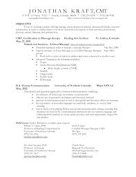 therapy resume objectives amitdhull co