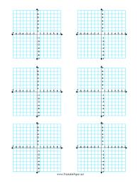 blank grid worksheet printable coordinate graphs 6 per page