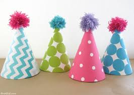 party hats easy kids birthday party idea fabric covered party hats bren did