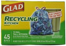 Green Kitchen Trash Can Amazon Com Glad Recycling Tall Kitchen Drawstring Trash Bags