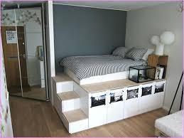 Bed Frame High Storage Platform Bed Hoodsie Co