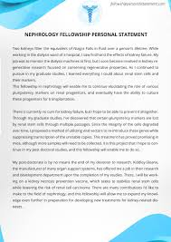 examples of fellowship personal statement fellowship personal