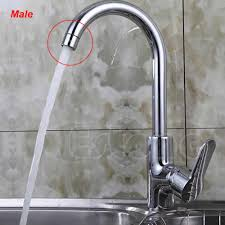y103 free shipping water saving kitchen faucet tap aerator chrome male female nozzle sprayer filter jpg
