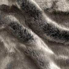 Faux Fur Throw Grey Tissavel Luxury Faux Volga Fur Metallic Silver From Fabricdotcom