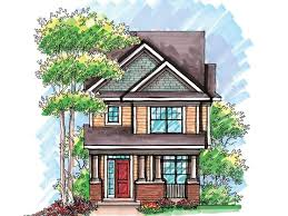 narrow lot house plans craftsman narrow lot house plan 020h 0200 munising house ideas