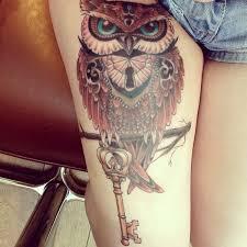 tattoo girl owl 30 simple owl lock tattoos golfian com