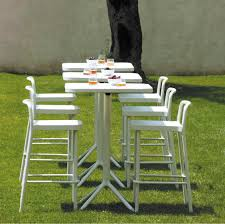 Wilko Garden Furniture Contemporary Bar Chair Stackable Aluminum White Grace By