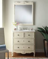 fantastic images of cream bathroom vanity for bathroom design and fancy furniture for small vintage bathroom decoration using white distressed wood frame bathroom mirror including cream