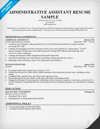 resume template for assistant resume templates for administrative assistant