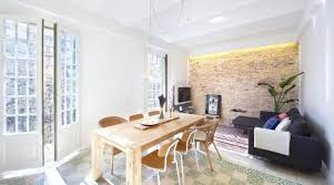 dining exposed brick feature wall living room decoration ideas