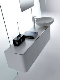 Bathroom Cabinet Depth by Rounded Bathroom Cabinets With Reduced Depth K08 From Karol