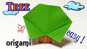 easy origami for kids beginners how to make a paper tree step by