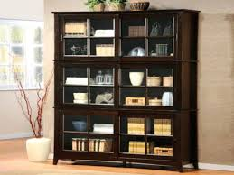 bookshelf astonishing corner bookcase with doors bookcases black