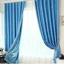 Kids Bedroom Blackout Curtains Best Blackout Curtains In Blue Color Of Star Printed For Kids Bedroom