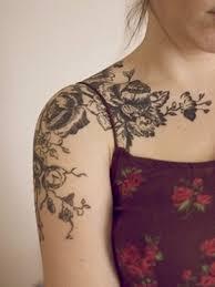 shoulder tattoos small flowers shoulder collar bone tattoo tattos pinterest bone