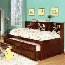 Bed Headrest Trundle Bed With Bookcase Headboard Foter