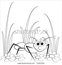 kids illustration snail daisy coloring stock vector 31941133