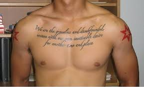 integratr com body tattoo ideas chest tattoo quotes for men