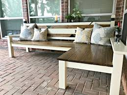 Wood Garden Bench Plans by L Shaped Diy Backyard Bench Just 130 Abbotts At Home