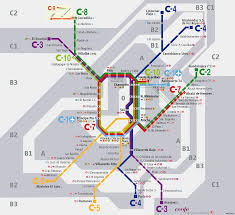 Metro Redline Map Official Map Renfe Cercanías Madrid Commuter Transit Maps