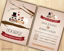 owl wedding invitations owl invitation owl invite wood