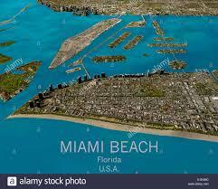 Miami Beach Map Satellite View Of Miami Map Stock Photos U0026 Satellite View Of Miami
