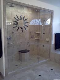 sliding glass shower door beige wall tiles built in shelf screen interior chrome curved bathtub faucet azure small futuristic bathroom shower beige wall idea dark grey
