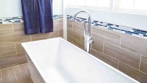 Bathroom With Wood Tile - bathroom tile trends for your remodel angie u0027s list