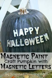 tutorial magnetic paint craft pumpkins with magnetic letters