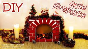 diy fake fireplace with faux fire u2013 cozy room decor tutorial
