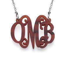 monogram necklace acrylic monogram necklace in acrylic mynamenecklace