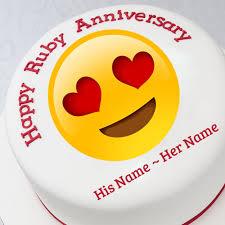 wedding wishes emoji happy anniversary by customized anniversary card