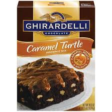 ghirardelli caramel turtle brownie mix 18 5 oz walmart com