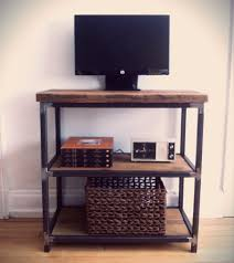 reclaimed wood and steel tv stand microwave stand book