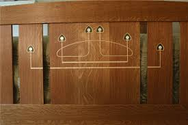 Custom Arts And Crafts FurnitureMackintosh Style Inlaid Bedroom - Arts and craft bedroom furniture