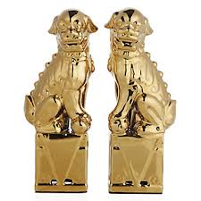 gold foo dogs chinoiserie chic finding foo dogs a 1 minute diy