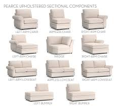 Pearce Sofa Pottery Barn by Build Your Own Pearce Sectional Components Pottery Barn