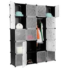 langria 20 cube curly patterned black interlocking modular storage