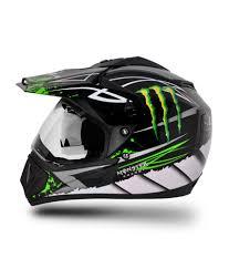 monster motocross helmet vega helmet off road graphic monster black base with green