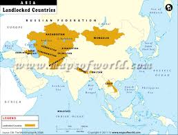 south asia countries map landlocked asian country map of landlocked countries of asia