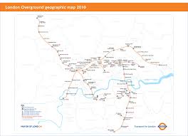 Metro North Train Map by London Overground Train Rail Maps