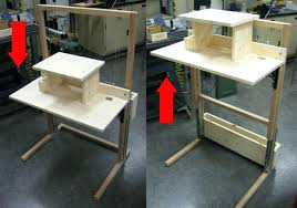 Adjustable Standing Desk Diy Cheap Standing Desk Conversion Wysiwyghome
