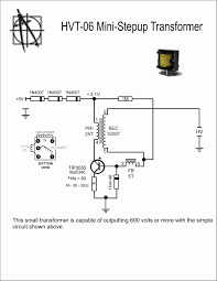 high voltage mini step up transformer wiring diagram components