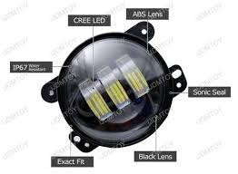 round led lights for jeep jeep wrangler jk dodge chrysler 30w high power cree 4 inch round led