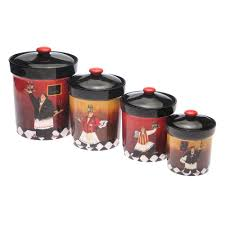 international bistro 4 pc kitchen canister set
