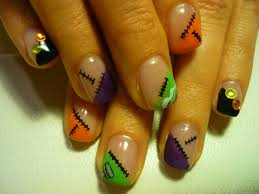colorful halloween nail art nail designs u0026 nail art