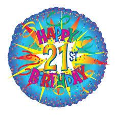 send a balloon in a box 21st birthday balloon send 21st birthday balloons by post